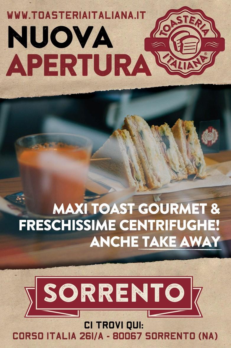 Toasteria Italiana Sorrento Nuova Apertura