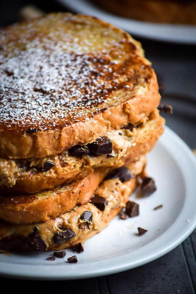 tower toast - burro d'arachidi e cioccolato