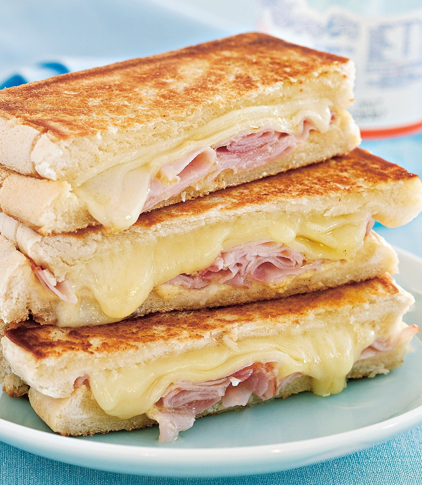 tower toast - ham & cheese