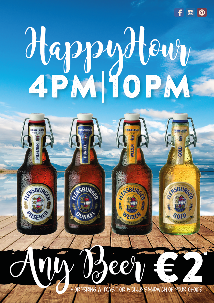 BEER PROMO IN TOASTERIA ITALIANA MALCESINE… ORDER ANY TOAST AFTER 4PM: YOUR BEER WILL BE 2€ ONLY!