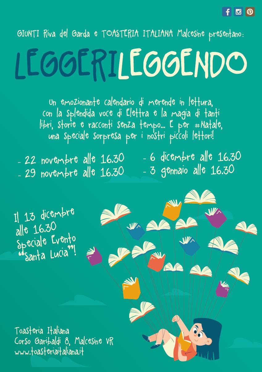 TOASTERIA ITALIANA MALCESINE PRESENTA: LEGGERI LEGGENDO