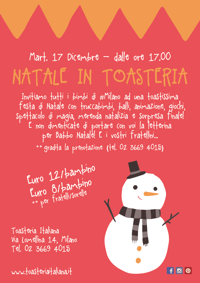 NATALE IN TOASTERIA ITALIANA: VIA LOMELLINA 14!