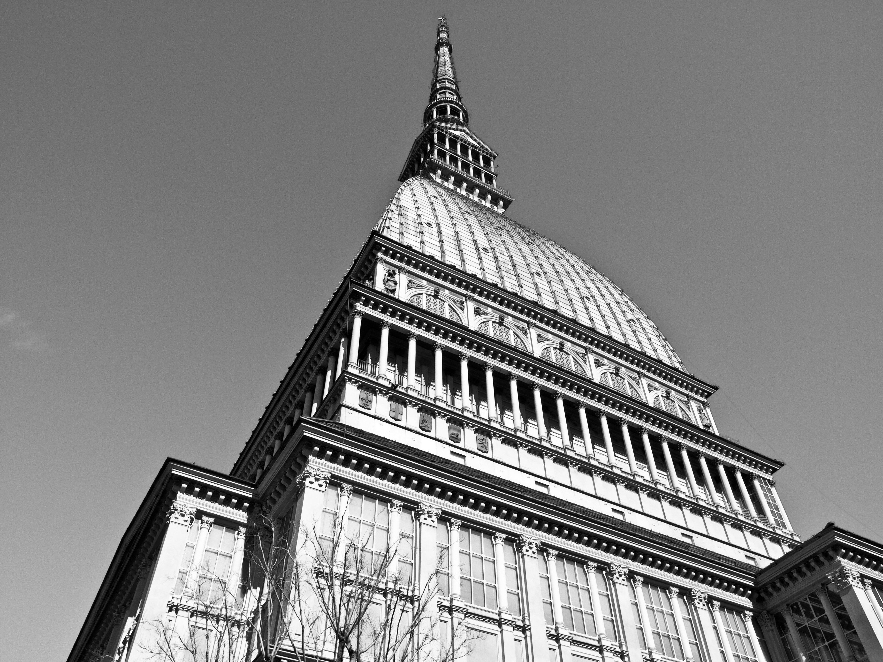 The Mole Antonelliana, Turin (Torino), Piedmont, Italy - over blue sky background