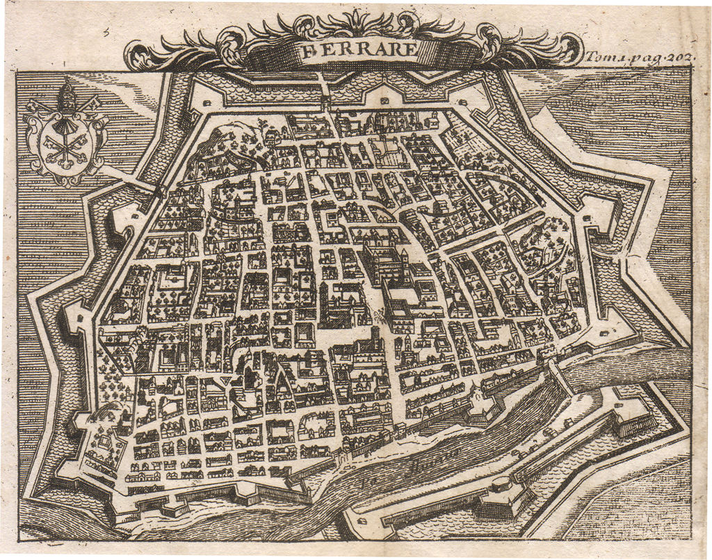 Ferrara Mappa Grande Toasteria Italiana