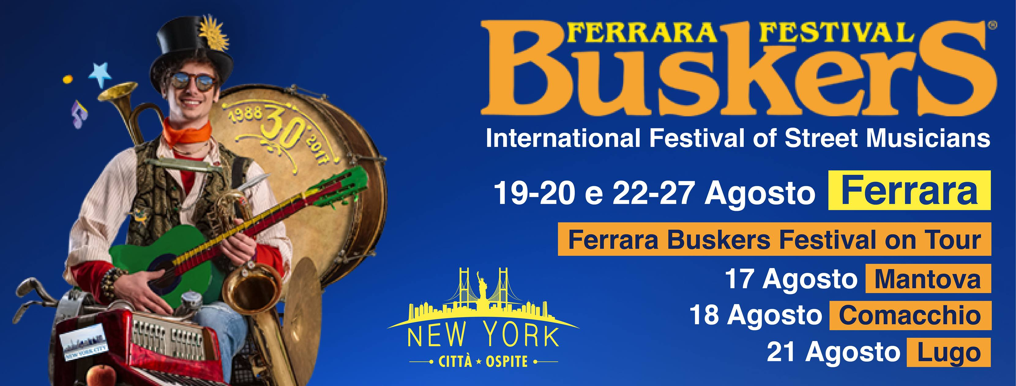 Ferrara Buskers Festival Banner